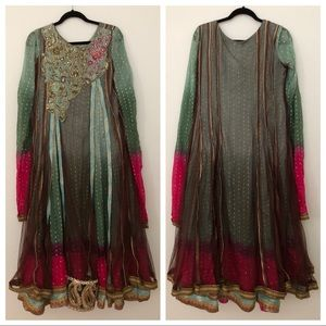 Heavily Embellished Pakistani Gown